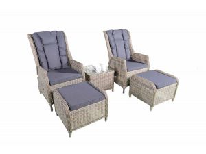 Knightsbridge 2 Rattan Recliner Chairs With 2 Footstool 2018 Range