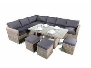 Knightsbridge 7Pc Rattan Corner Dining-Lounge Set 2018 Range