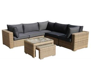 Knightsbridge 7PC L Shape Rattan Corner Sofa Set 2018