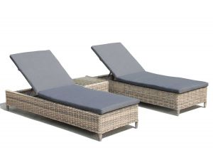 Knightsbridge Rattan Sunlounger Set With Side Table 2017 Range
