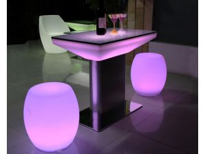 Skyline Stainless Steel Table With Light