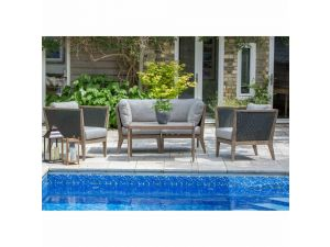 Leisuregrow Panama Grey Weave Lounge Set
