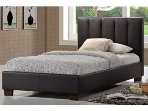 Limelight Pulsar Brown Faux Leather 4ft Small Double Bed Frame