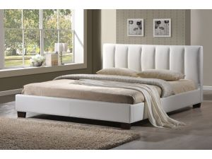 Limelight Pulsar White Faux Leather 3ft Single Bed Frame
