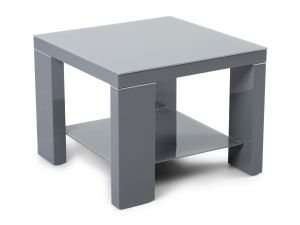 Fairmont Lucca Grey High Gloss Side Table