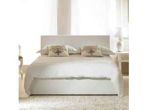 Emporia Madrid White Faux Leather 3ft Single Ottoman Bed