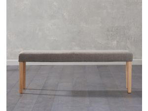 Maiya Brown Faux Leather Large Bench