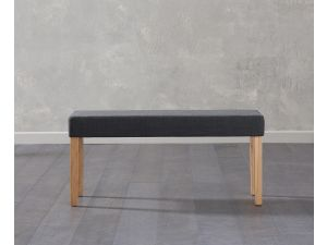 Maiya Black Faux Leather Small Bench