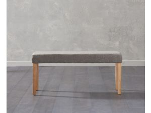 Maiya Brown Faux Leather Small Bench