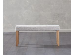 Maiya Grey Faux Leather Small Bench