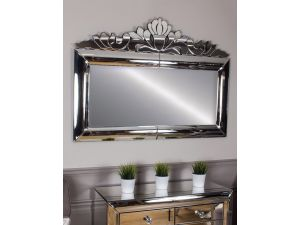 Monroe Silver Overmantle Mirror