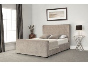 Emporia Manhattan 4ft6 Double Wing Sleigh Stone Fabric Ottoman Bed
