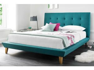 Kaydian Marietta 4ft6 Double Teal Fabric Bed