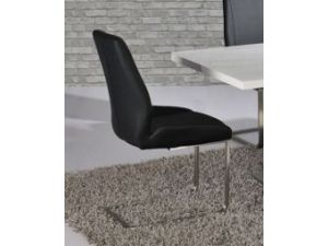 Mariya Black Faux Leather Dining Chair