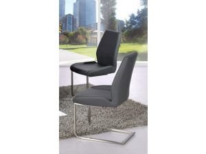 Mariya Grey Faux Leather Dining Chair