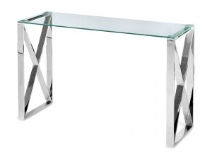 Fairmont Maxi Clear Glass Console Table