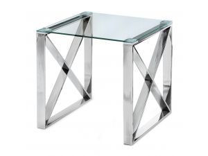 Fairmont Maxi Clear Glass Side Table