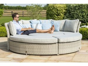 Maze Oxford Grey Rattan Lifestyle Sofa Suite with Glass Top