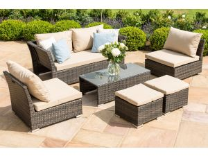 Maze Seville Brown Rattan Sofa Set
