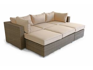 Maze Tuscany Rio Brown Rattan Sofa Set