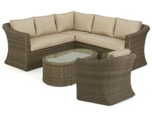 Maze Winchester Natural Rattan Small Corner Group with Chair