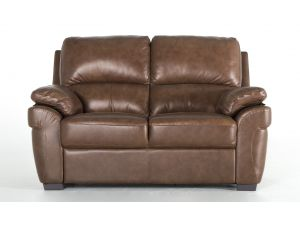 Monzano Old Saddle Brown Leather 3 Seater Fixed Sofa