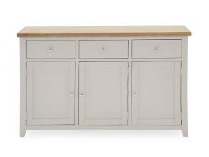 Ferndale Grey Painted with Oak Large Sideboard