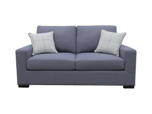 Turin Slate Blue Fabric Sofa Bed With 2 Scatter Cushions