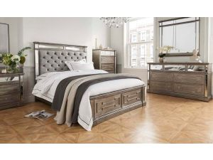 Ophelia Silver 5ft Kingsize Wooden Bed