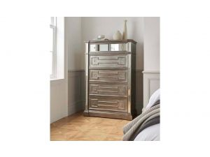 Ophelia Silver Wooden Tall Chest