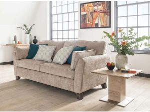 Cantrell Silver 3 Seater Fabric Sofa