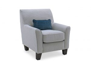 Cantrell Teal Fabric Accent Chair