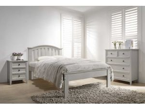 Mila Taupe 4ft6 Double Curved Wooden Bed