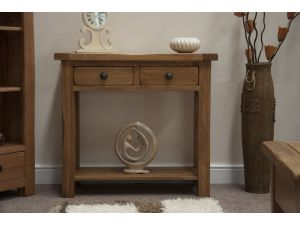 Rustic Oak Hall Console Table