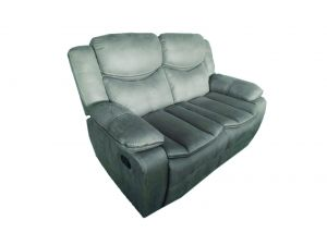 Merryn 2 Seater Grey Leather Reclining Sofa