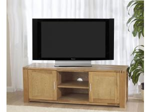 Verona Solid Oak TV Unit with Veneered Panels