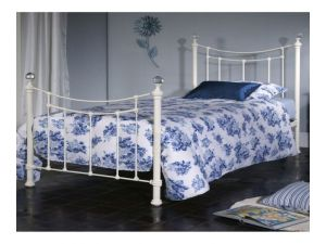 Limelight Metis Ivory 4ft6 Double Metal Bedstead