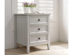Mila 3 Drawer Clay Bedside Table