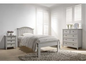 Mila 3ft Single Curved Clay Wooden Bed