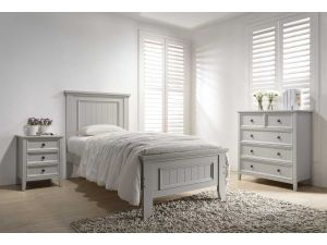 Mila 3ft Single Panelled Clay Wooden Bed