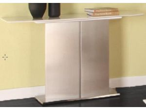 Mirage Cream Marble Console Table