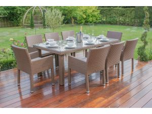 Maze Monaco Brown Rattan 8 Seater Dining Set