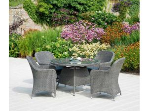 Alexander Rose Monte Carlo 4 Seater Closed Weave Armchair Set