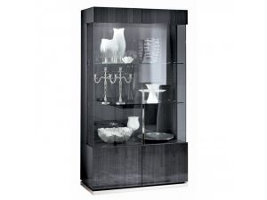 Alf Italia Monte Carlo 2 Door Curvio Grey Display Cabinet