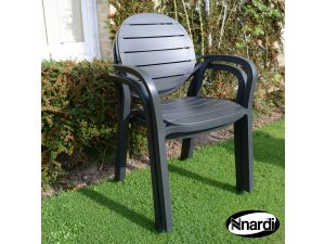 Europa Anthracite Palma Resin Chair