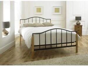 Limelight Neptune 4ft6 Double Black Metal Bed