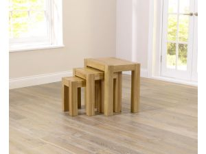 Tampa Solid Oak Nest Of 3 Tables