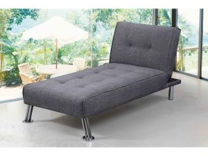 New Yorkdale Grey Fabric Chaise Longue