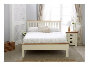 Birlea New Hampshire 4ft6 Double Cream and Oak Low End Bed