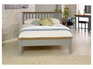 Birlea New Hampshire 4ft6 Double Grey and Oak Low End Bed